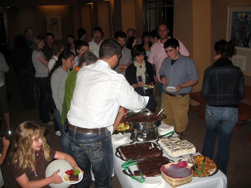 Dessert reception prior to talent show