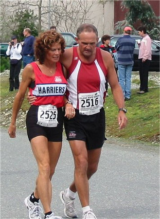 2003 Sooke River 10K - Pre-race support