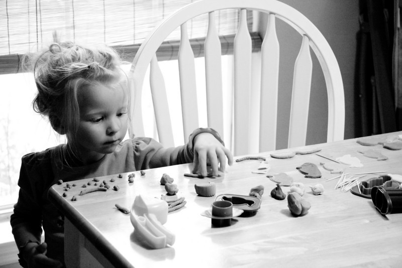 """Chloe loves Play-Doh, which she calls """"Ploh-Doh"""""""