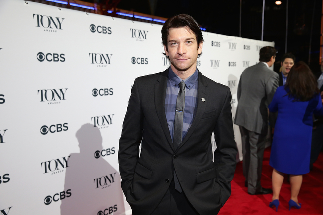 ". Actor Andy Karl, nominee for Best Performance by an Actor in a Leading Role in a Musical for ""Rocky,\"" attends the 2014 Tony Awards Meet The Nominees Press Reception at the Paramount Hotel on April 30, 2014 in New York City.  (Photo by Neilson Barnard/Getty Images for Tony Awards Productions)"