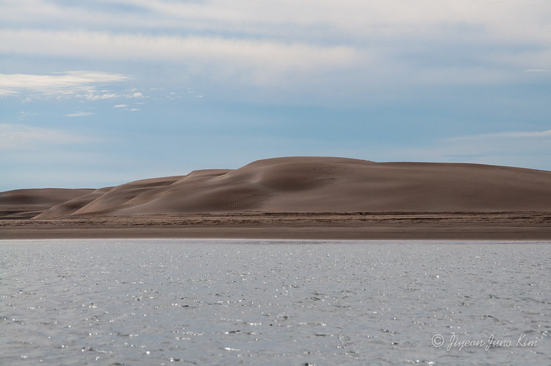 Sand dunes at Adolfo López Mateos, Baja California Sur.