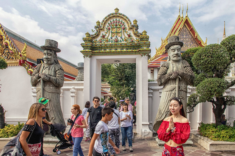 Gate Guardians at the Wat Pho Temple