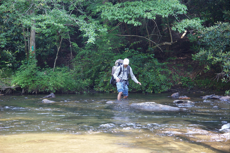 In the earlier river crossings, I did not use a stick for balance and support. This added to the fun of crossing the river.