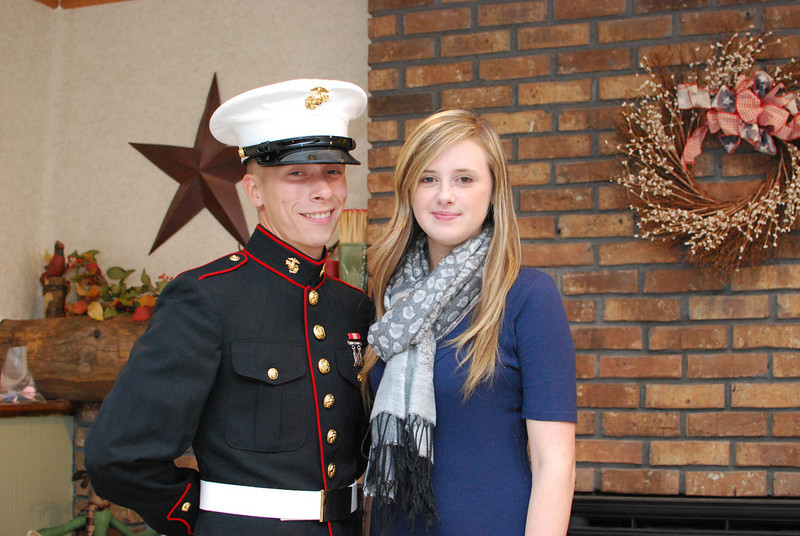 Newly graduated Marine. Attention! Chris and Kirsten.