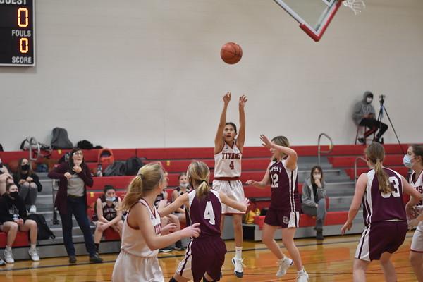 8th grade girls basketball vs. Waverly