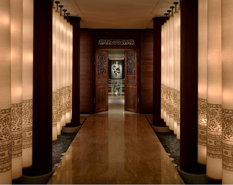 Lantern Corridor at the Peninsula Bangkok Hotel Spa