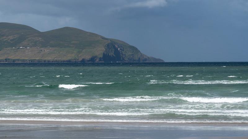 Scenic view of Atlantic Ocean, Castlegregory, County Kerry, Ireland