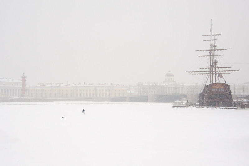 Neva River (with fisherman)