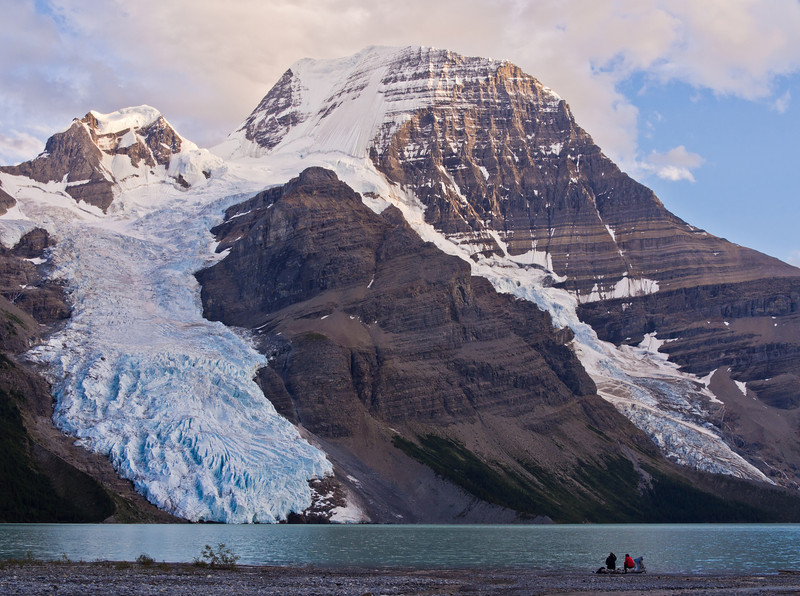 Mount Robson and Berg glacier