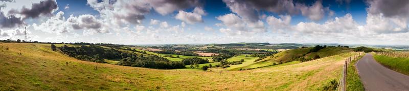 Rolling Dorset landscape on Bulbarrow Hill