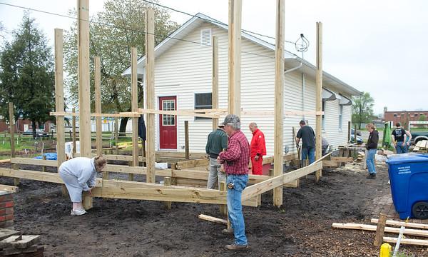 Community Garden deck construction