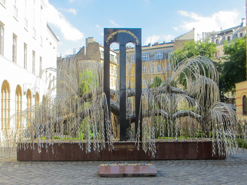 The Tree of Life commemorates the lives of 600,000 Jews we lost during the Holocaust.  There are names etched on each small leaf.