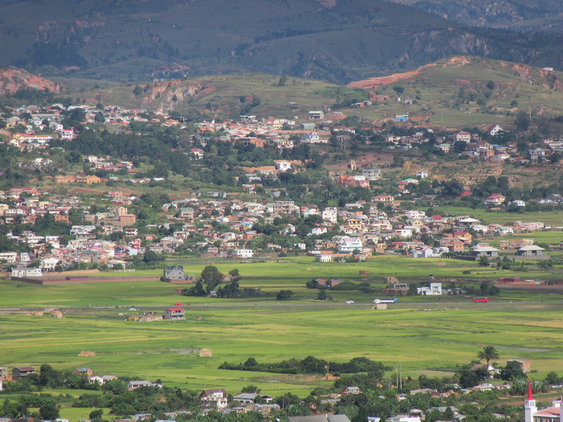 036_Antananarivo. Rice paddies are tended right up to the edge of the city.JPG