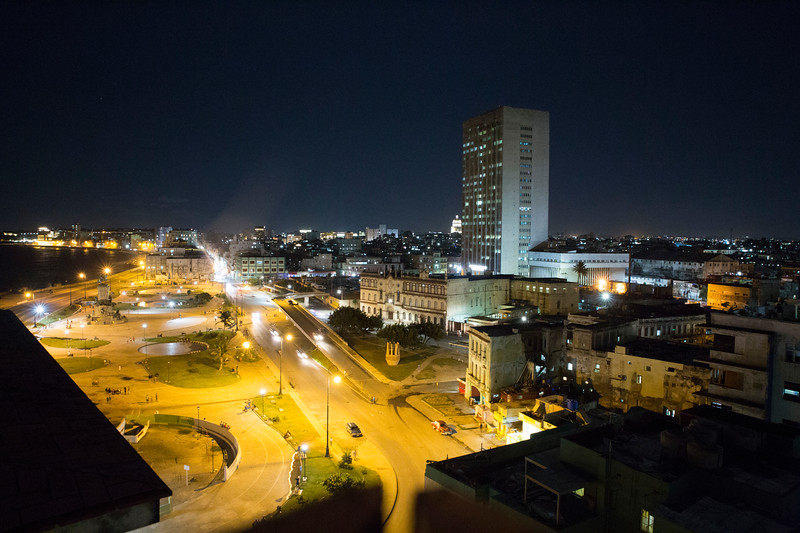 Old Havana at night.