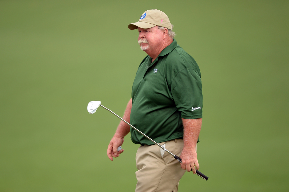 . Craig Stadler of the United States stands on the second green during the second round of the 2013 Masters Tournament at Augusta National Golf Club on April 12, 2013 in Augusta, Georgia.  (Photo by Harry How/Getty Images)