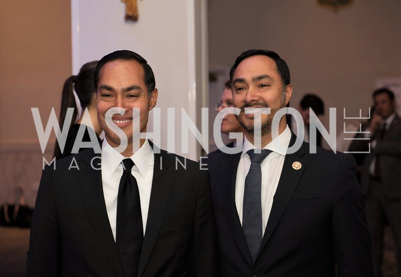 Julian  Castro, Joaquin Castro. Photo by Yasmin Holman. Noche de  Gala. Mayflower Hotel. 09.18.19