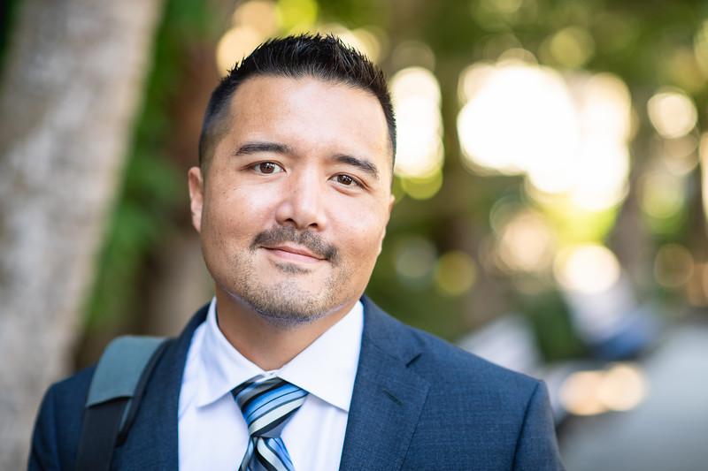 Fall 2018 Outstanding Graduate Jesse Dolin earning an Ed.D. in Educational Leadership.