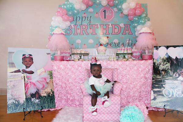 Sereniti's First Birthday