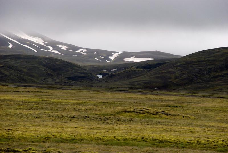 Horft í átt að Eldgjá þar sem Syðri-Ófæra fer í gegn