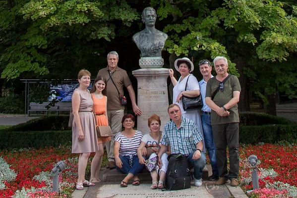 Copou, Pelerinaj la Teiul lui Mihai Eminescu, Iasi, Romania - July, 2016