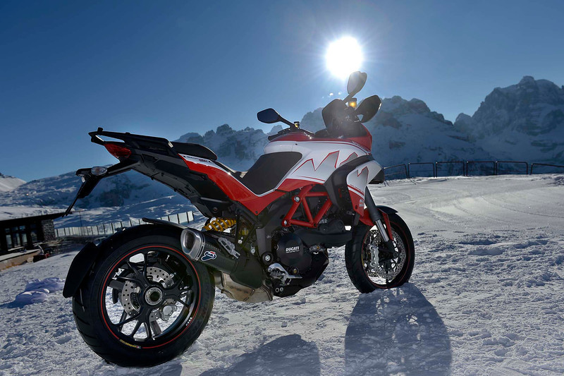 2/6: Ducati Multistrada 2013 Dolomites Peak special edition variation on the Pikes Peak MTS1200  - launch / Ducati press release Jan 2013
