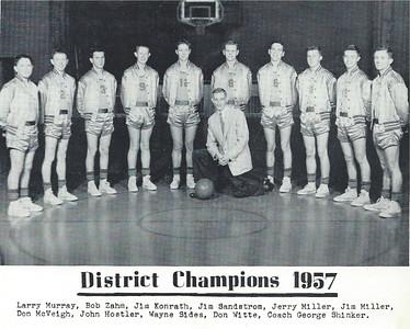Chadron Assumption Academy Basketball Team - 1957