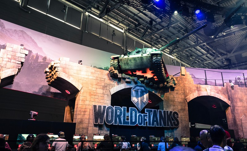 World of Tanks booth at Gamescom 2017