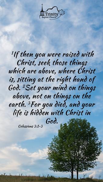 August 2019 Scripture Memory
