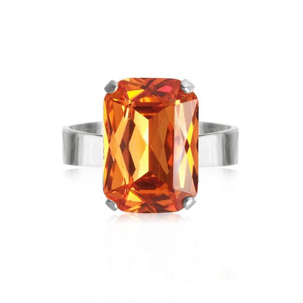 Lydia Ring / Tangerine Rhodium