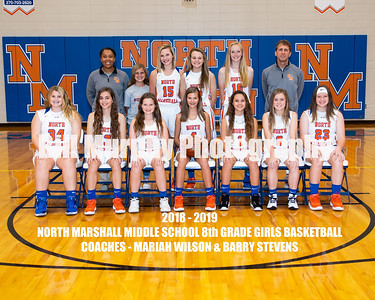 2018 - 2019 North Marshall Middle School Girls Basketball