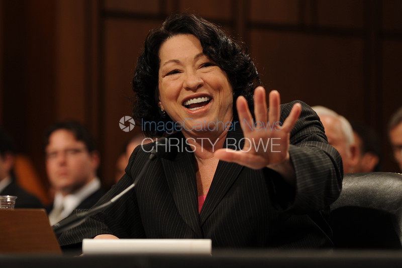 Supreme Court Justice nominee Sonia Sotomayor undergoes her confirmation hearing process.