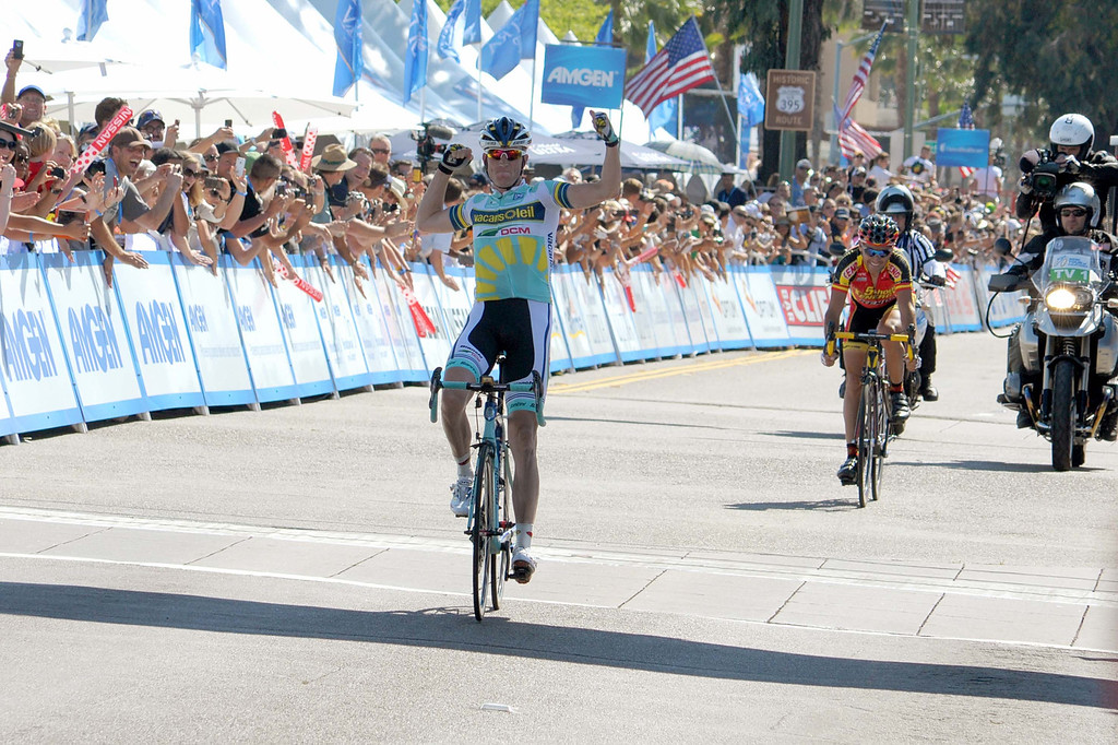 . Lieuve Westra, Vacansoleil-DCM, winning a stage. (Robert Torre/Special to the Sentinel)