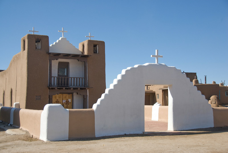 San Geronimo Chapel in Taos Pueblo, New Mexico, USA