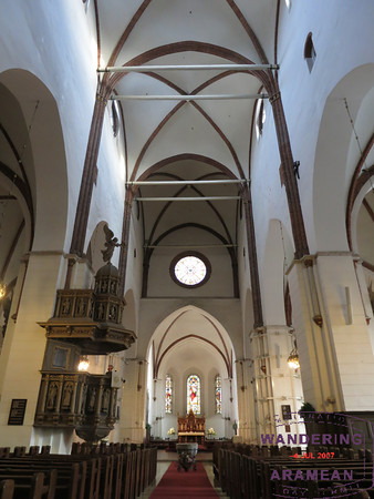 Interior of the Riga Cathedral; not all that special.