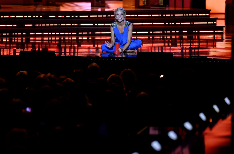 . Miss New York Kira Kazantsev performs during the talent portion of the Miss America 2015 pageant, Sunday, Sept. 14, 2014, in Atlantic City, N.J. Kazentsev was crowned Miss America 2015 during the event. (AP Photo/Mel Evans)