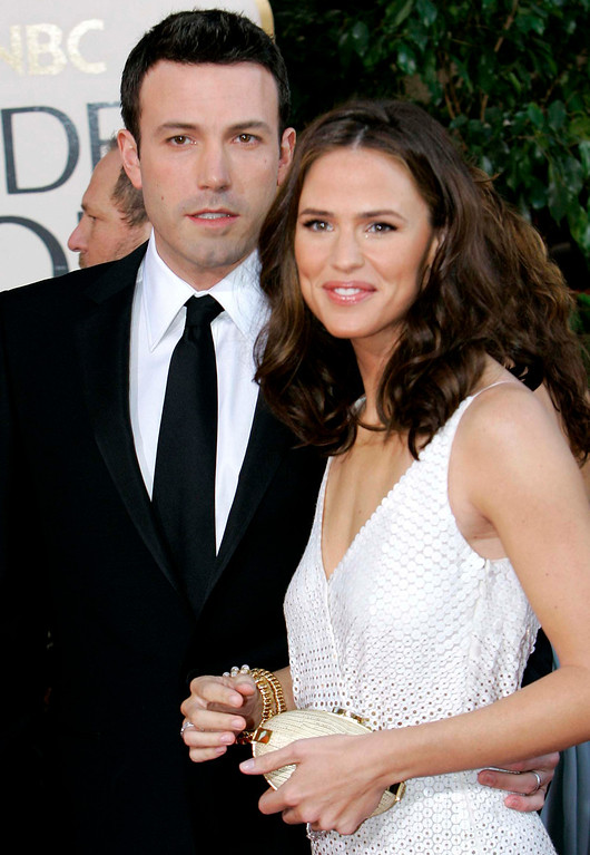 . Ben Affleck and Jennifer Garner arrive for the 64th Annual Golden Globe Awards in Beverly Hills (Mark J. Terrill/AP)