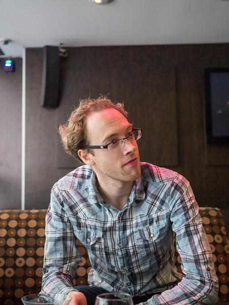 Dan always seems to fine himself sat under a pick light