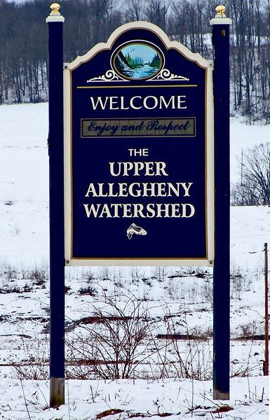 Upper Allegheny Watershed sign