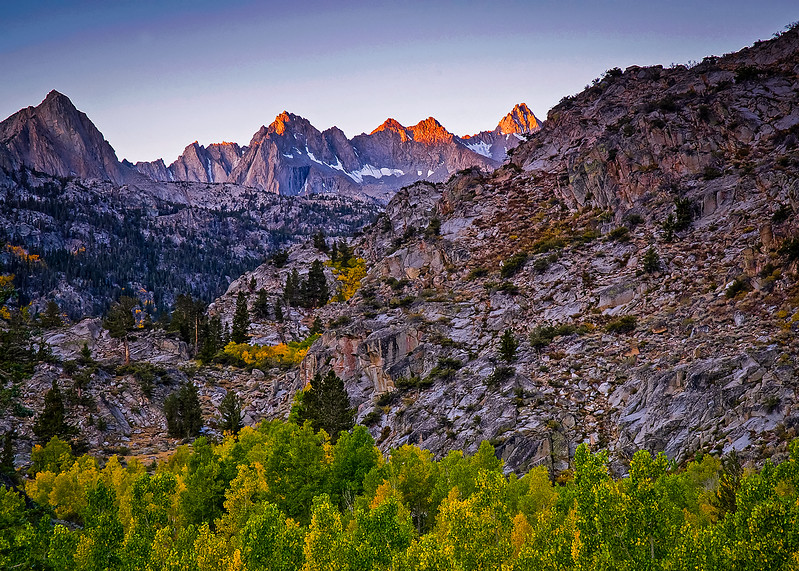 Early Light in Sabrina Basin, Sierra Nevada, CA