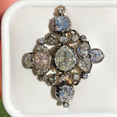 Victorian Diamond Convertible Brooch/Pendant