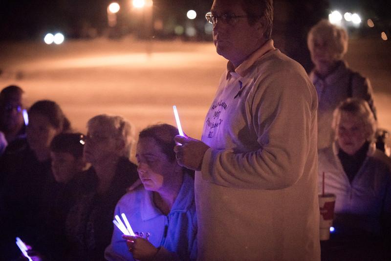 2013 Purple Light Vigil Bentonville Arkansas