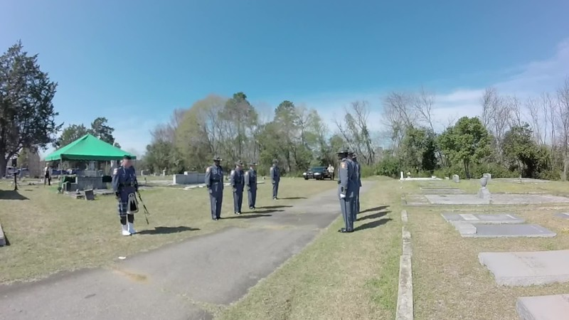 Billy Cape Grave-site Ceremony
