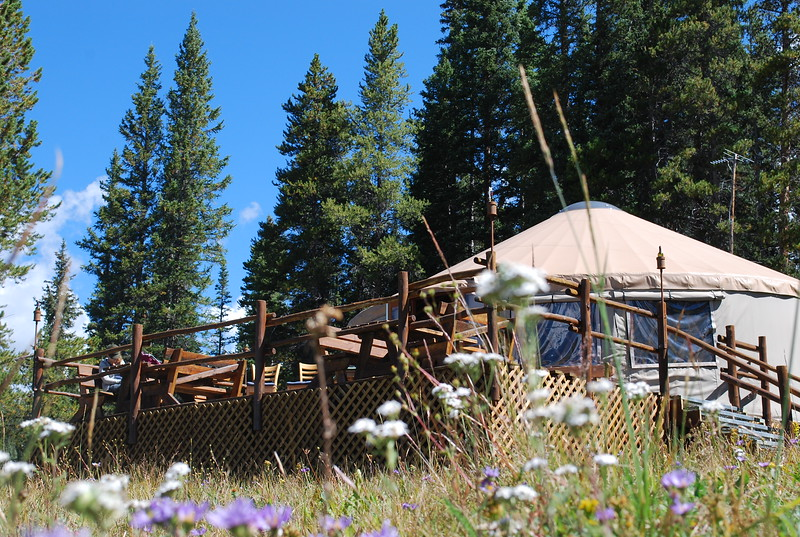Off Grid in Colorado in a luxurious yurt. Add this #Colorado #travel experience to your boomer plans.