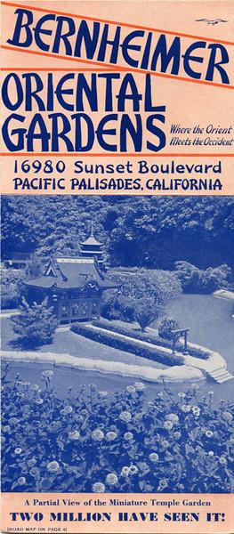 Bernheimer Oriental Gardens Brochure