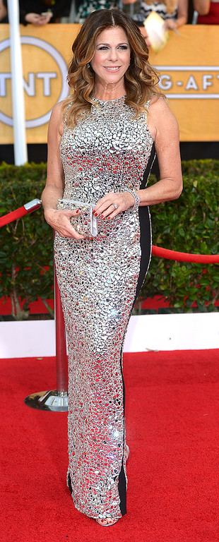 . Rita Wilson arrives at the 20th Annual Screen Actors Guild Awards  at the Shrine Auditorium in Los Angeles, California on Saturday January 18, 2014 (Photo by Michael Owen Baker / Los Angeles Daily News)
