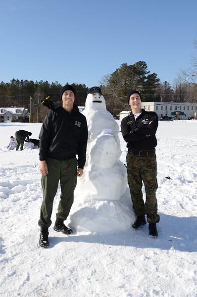 Snowman Building Contest