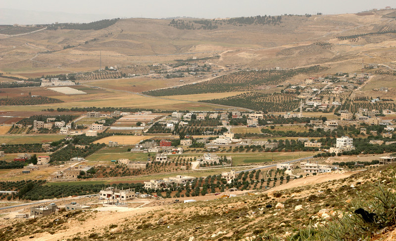 The Jordanian countryside between Amman and Jerash.