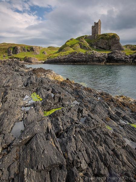 Gylen Castle on the Isle of Kerrera, Scotland.