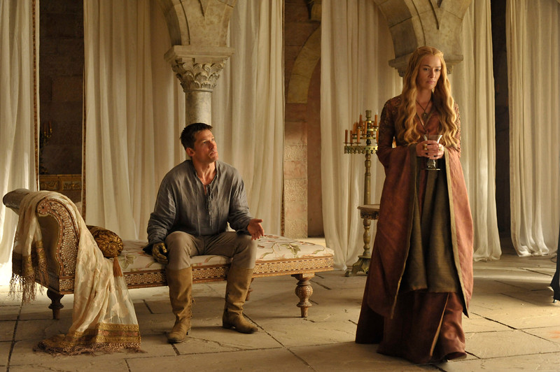 . Game of Thrones, Season 4: Nikolaj Coster-Waldau and Lena Headey. (Photo by Neil Davidson)