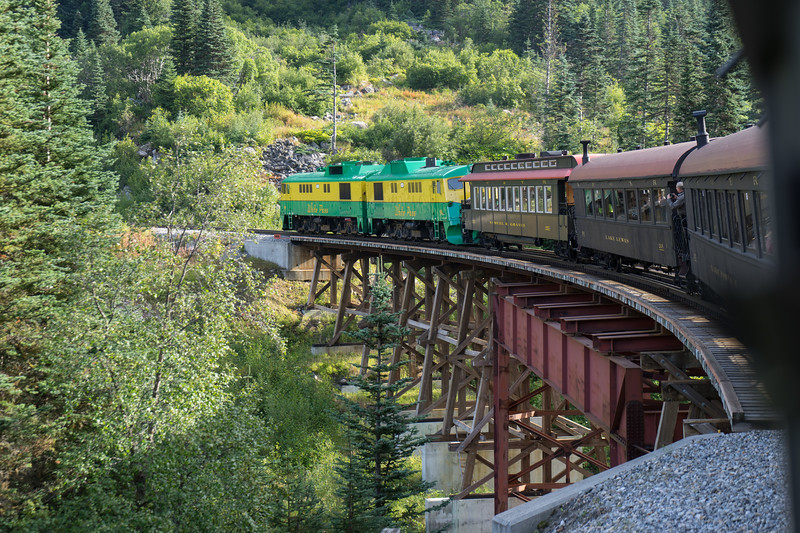 Crossing the East Fork of the Skagway River